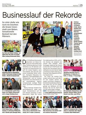 Businesslauf der Rekorde