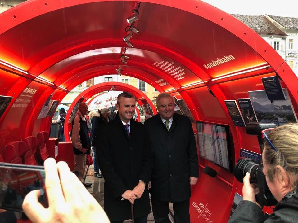 Bundesminister Norbert Hofer und Landeshauptman Schützenhöfer bei der von der Eventagentur CompanyCode organisierten EU-Bürgerevent.