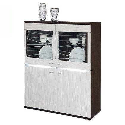 """Шкаф для посуды 06.111 """"Абамо"""" венге/б.глянец"""