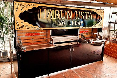 Horizontal Gyros Kebab Doner Shawarma Machine
