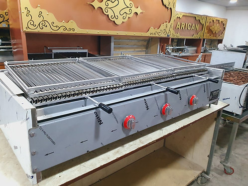 Gas and Lava Stone Grill Bbq Industrial Grill 150 cm
