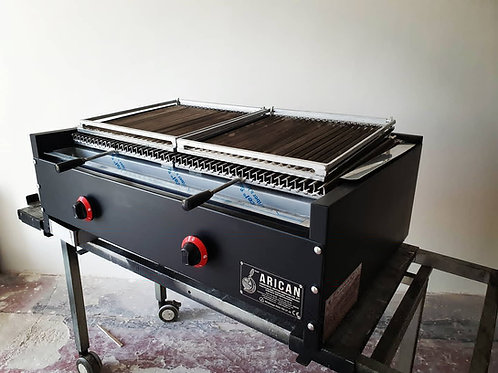 Lava Stona Barbecue Grill 100cm Black Metal