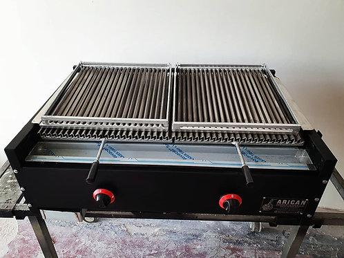Gas & Lava Stone Grill Barbecue