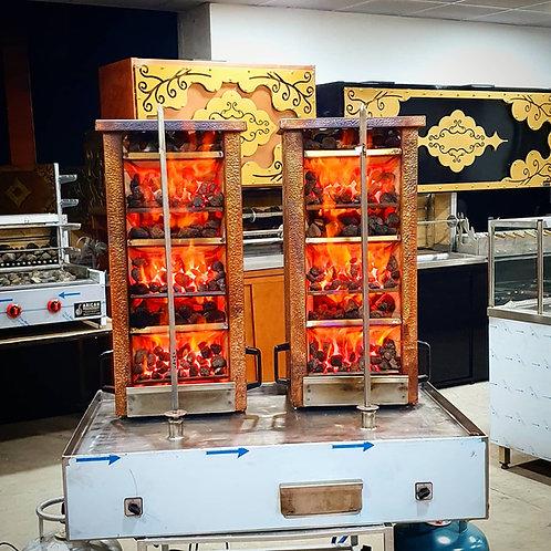 Automatic Gas & Lava  Stone Doner Shawarma Kebab Machines Double