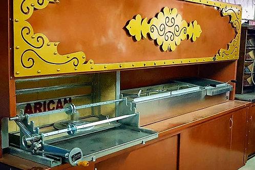 Automatic Horizontal Broiler Grill Rotisserie, Shawarma Gyro Doner Machine
