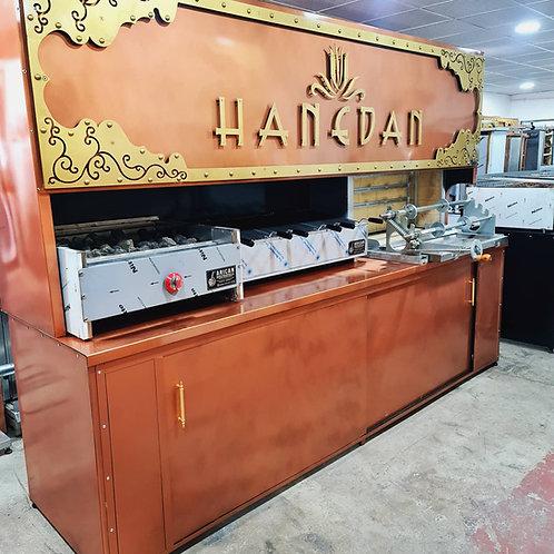 Horizontal Shawarma Doner Kebab Machine + Charcoal Grill and Gas & Lava Rock Gri
