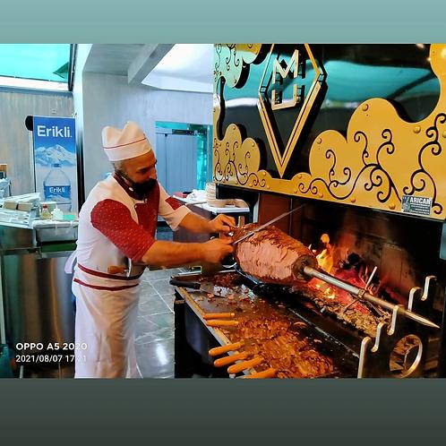 Horizontal Shawarma Doner Cag Kebab Machine