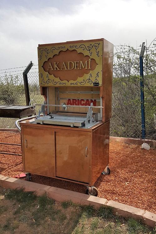 Charcoal or Wood Fire Horizontal Shawarma Machine Kopyası