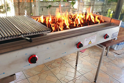 Industrial Gas and Lava Stone Kebab Grill