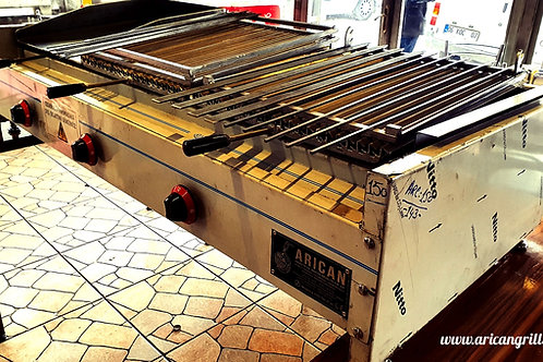 Gas and Lava Stone Grill Kebab Barbecue