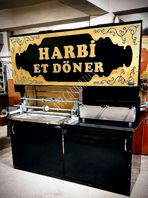 Horizontal Doner and Charcoal Grill Bbq