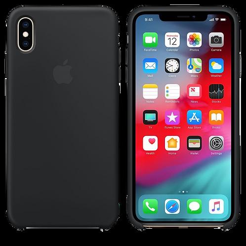 Silicon Case iPhone XS Max- Black