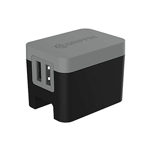 Griffin Premium Dual Wall Charger Universal 4.8A - Black/Gray