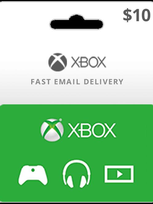 USA    Xbox      Gift Card    $10