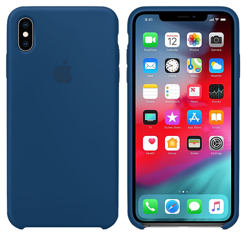 Silicon Case iPhone XS Max- Blue