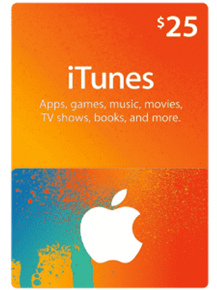 Apple App Store Gift Card $25