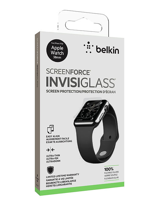 Belkin Flex glass overlay 38mm for Apple Watch