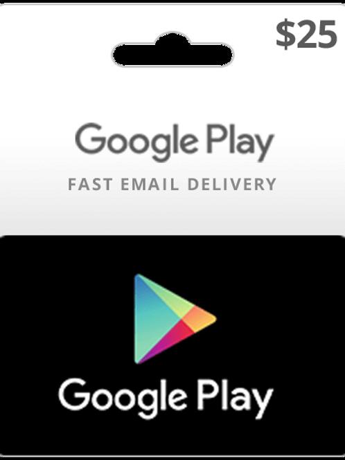Google Play Card Card $25