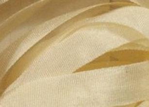 Ruban de soie 7 mm - Crème