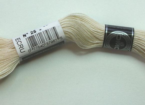 Coton à broder n° 25 - Ecru - 32m