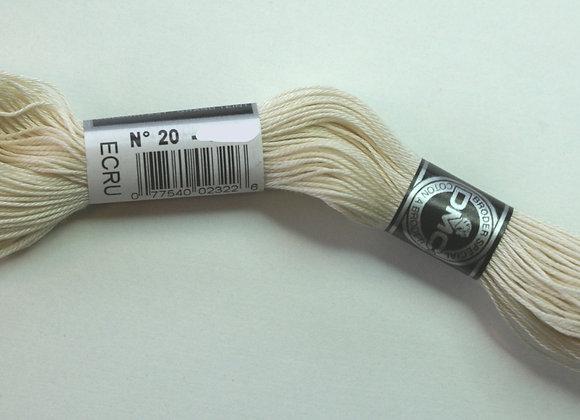 Coton à broder n° 20 - Ecru - 28 m