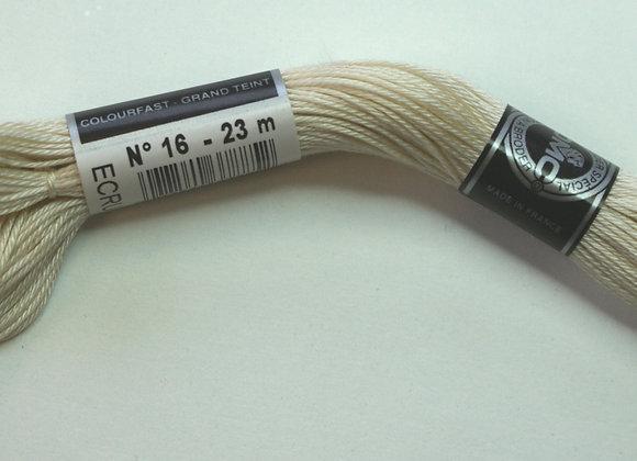 Coton à broder n° 16 - Ecru - 23 m