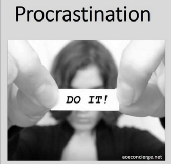 The Beauty of Procrastination