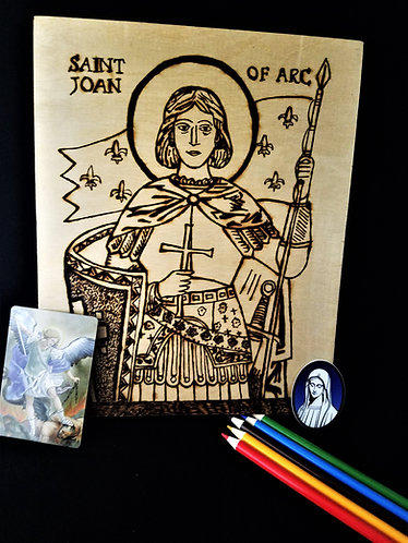 Catholic Pyrography Art Kit (St. Joan of Arc)