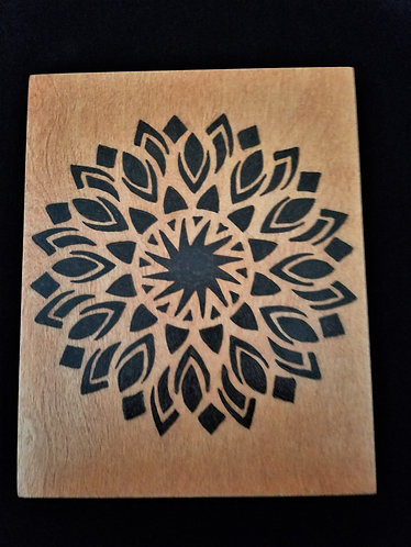 Geometric Pyrography Artwork 8 x 10 in.