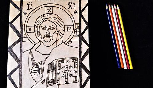 Catholic Pyrography Art Kit (Pantocrator)