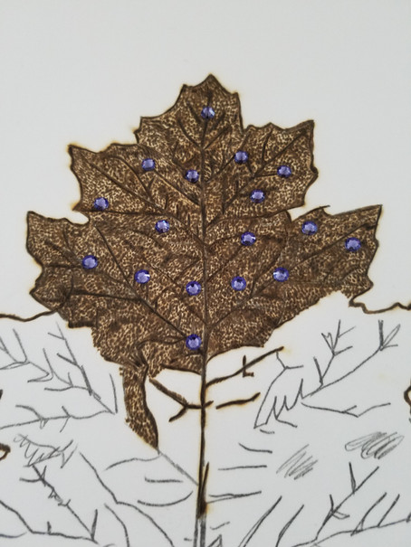 Add a Little Sparkle to Your Pyrography Work