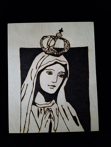 Catholic Pyrogaphy Art Kit (Our Lady of Fatima)
