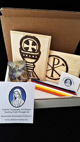 Catholic Pyrography Art Kit (Eucharist/Chi Rho)