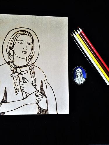Catholic Pyrography Art Kit (Saint Kateri)