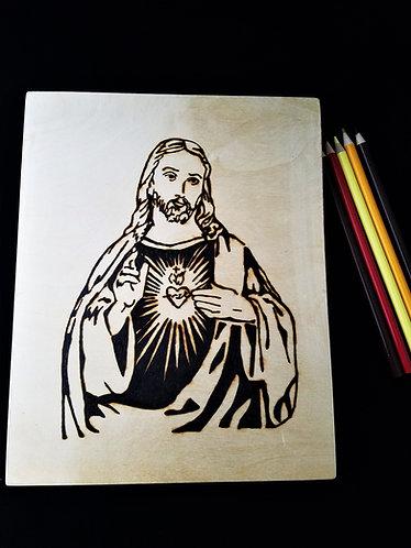 Catholic Pyrography Art Kit (Sacred Heart Jesus)