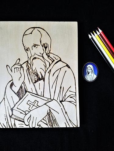 Catholic Pyrography Art Kit (St. Peter)