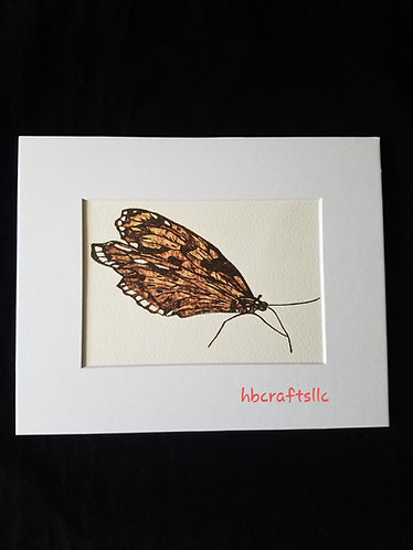 Pyrography on Paper Moth 2 Art Print