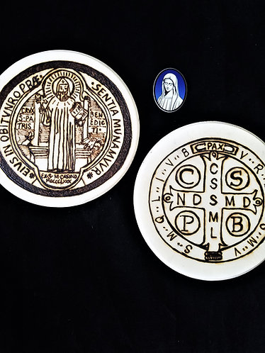 Catholic Pyrography Art Kit (St. Benedict)