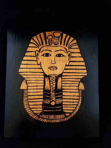 Pyrography Egyptian Artwork 8 x 10 in.