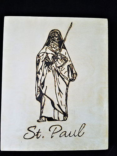 Catholic Pyrography Art Kit (St. Paul)