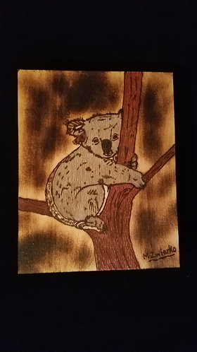 "Pyrography Artwork ""Koala"" 8 x 10 in."