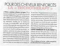Elle Magazine, 5 janvier 2018 La Trichothérapy