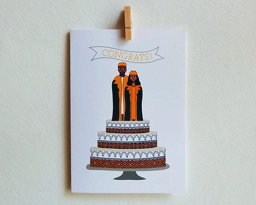 congrats - cake topper