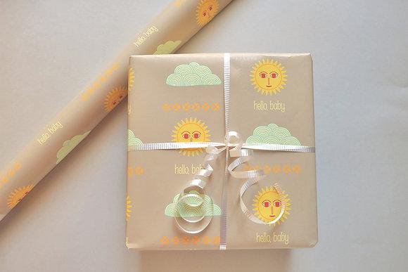 hello baby gift wrap