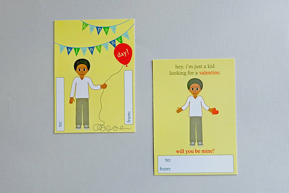 classroom valentines for boys - garland