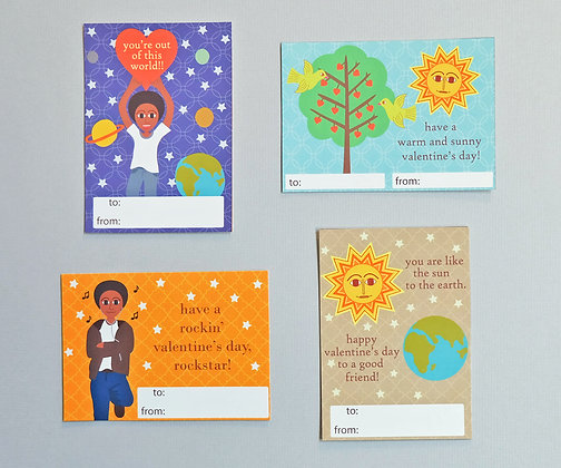 classroom valentines for boys - planetary