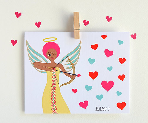 cupid and her bow-and-arrow