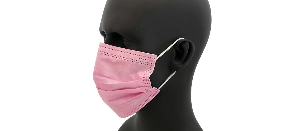 Pink Pleated Face Mask - 18204PK