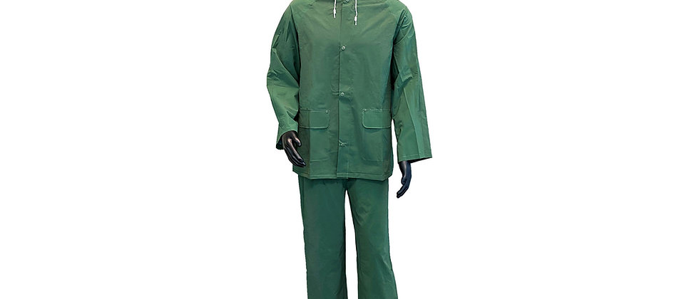 Green PVC/Polyester Rainsuit - 50304