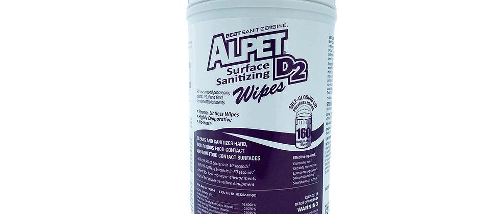Alpet Surface Sanitizing Wipes - SSW0002